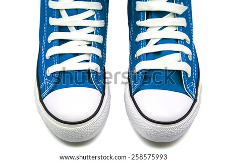 Sport Shoes Isolated on white. - stock photo