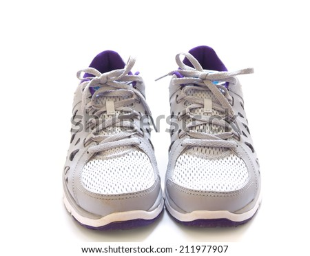 Sport shoes isolated on white background - stock photo