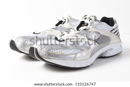 sport shoes on white background - stock photo