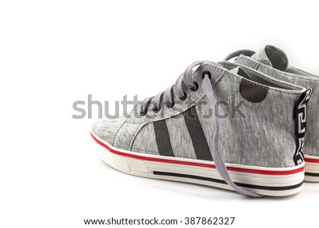 Sport shoes,Sneakers isolated on white background - stock photo