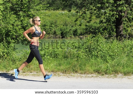 Sport woman - stock photo