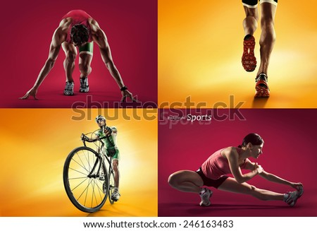 Sports background - stock photo