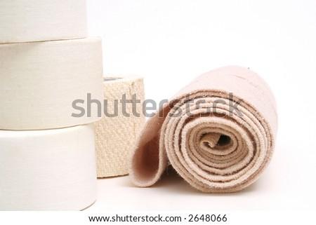 sports bandage & tape - stock photo
