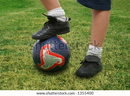 Sports. Close up of a soccer player (clipping path included). From my football series - stock photo