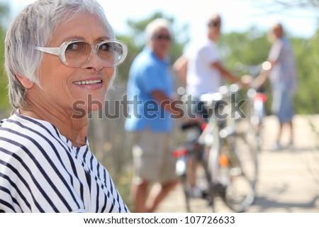 Sports elderly - stock photo