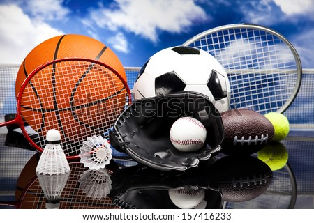 Sports Equipment - stock photo