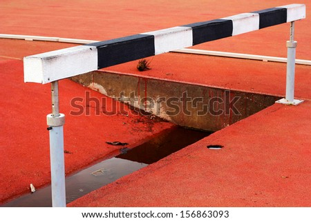 Sports equipment  for the jump. - stock photo