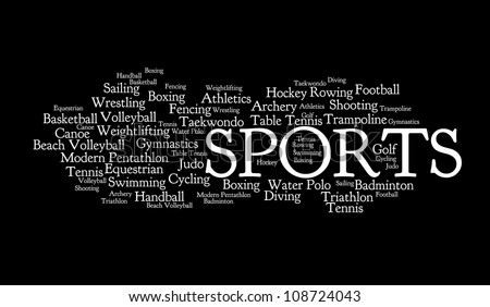 Sports info-text graphics and arrangement concept on black background - stock photo