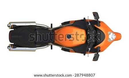 sports motorcycle - stock photo