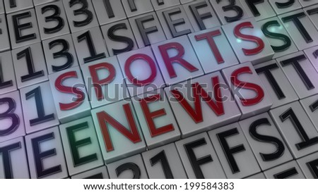 sports news background - stock photo