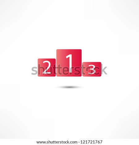 Sports podium icon - stock photo