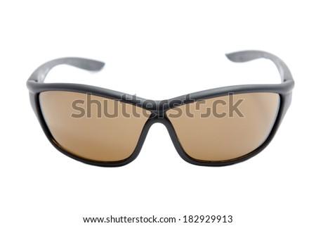 sports sunglasses on white background - stock photo