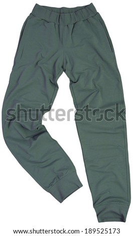 Sports sweatpants isolated on a white background - stock photo