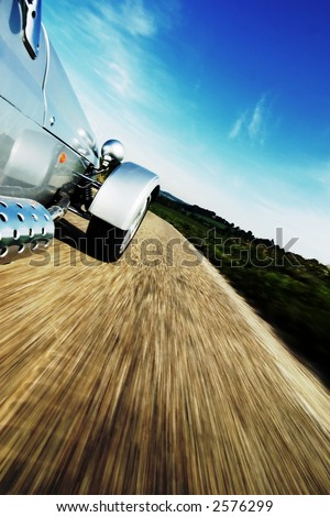 Sportscar driving - stock photo