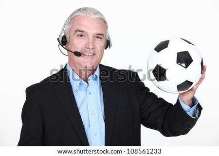 Sportscaster - stock photo