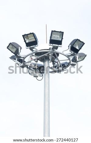 Spot-light tower - stock photo