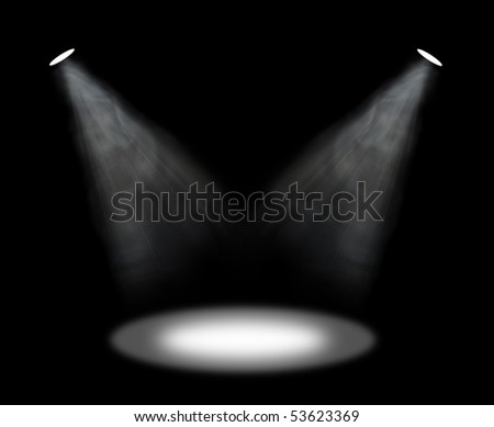 spot lights - stock photo