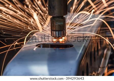 Spot welding Industrial automotive in thailand - stock photo
