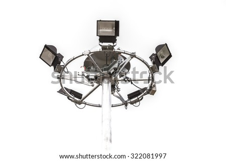spotlight and limelight and be strong sunlight on white background. - stock photo