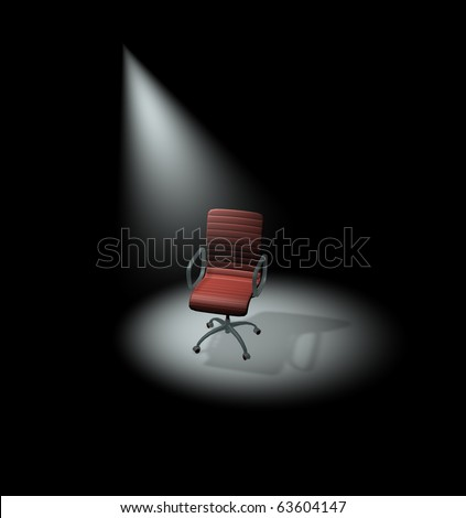 Spotlight on jobs, employment - stock photo