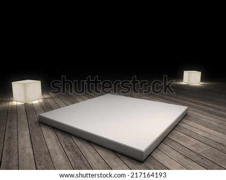 spotlight on stage - stock photo