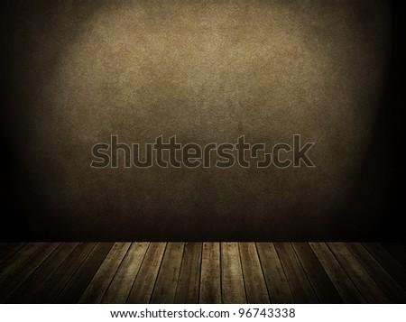 spotlight on stage - stock photo