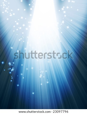 spotlight on stage with some glitters on it - stock photo
