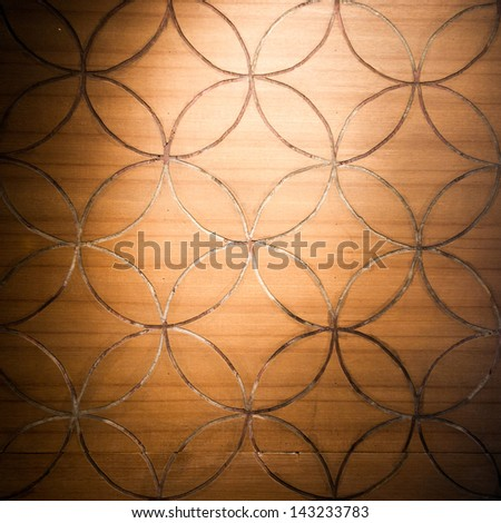 Spotlight on Wood plank brown texture background.Dramatic light and shadows. - stock photo