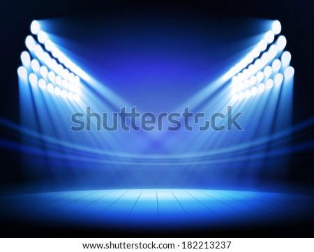 Spotlights - stock photo