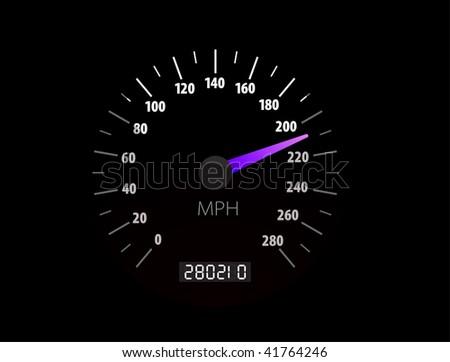 Sppedometer illustration - stock photo