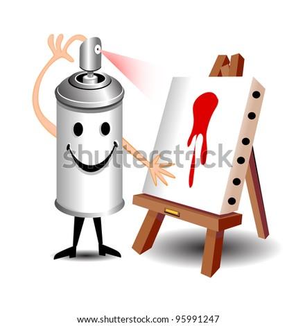 Spray Can Art - stock photo