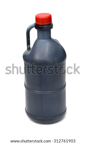 spray cans with differently colored paint - stock photo