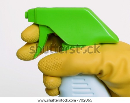 spray cleaner - stock photo