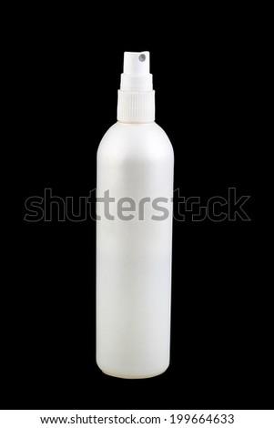Spray Cosmetic Parfume, Deodorant, Freshener Or Medical Antiseptic Drugs Plastic Bottle White - stock photo