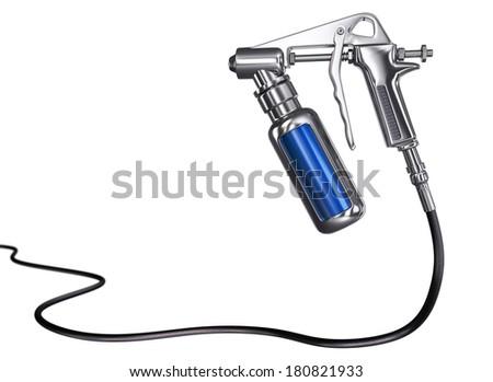 Spray Gun isolated III - stock photo