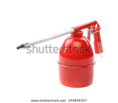 Spray gun isolated over a white background - stock photo