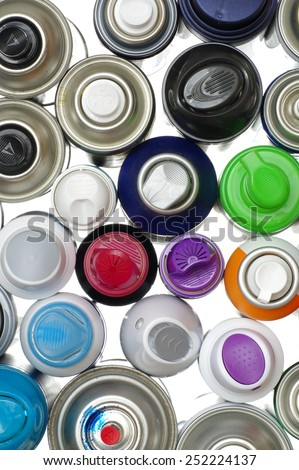 spray paint can backgrounds - stock photo