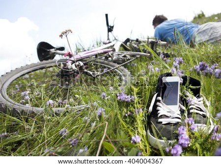 Spring. A bike. Recreation.  - stock photo
