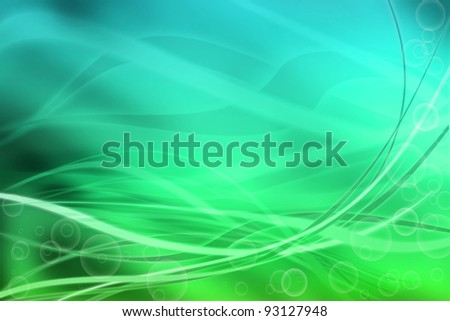 spring background  made in green and blue colors - stock photo