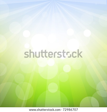 Spring Background With Bokeh - stock photo