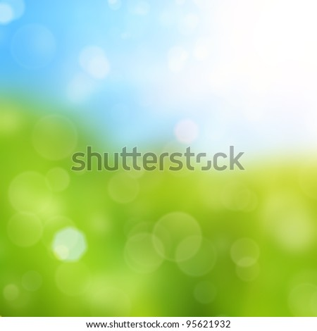 Spring background with brokeh effect - stock photo