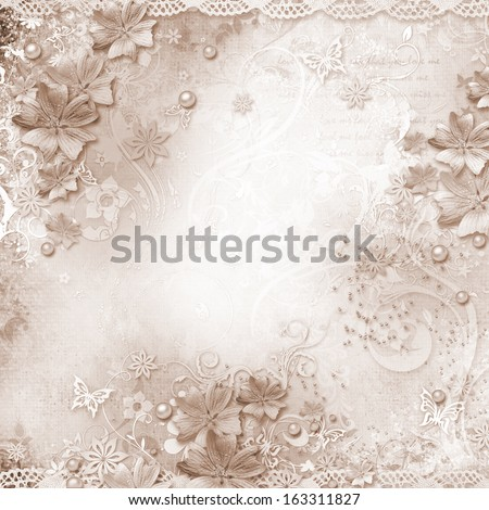 Spring background with flowers  - stock photo
