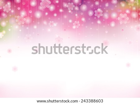 Spring blossom pink background with blurred flowers.  - stock photo