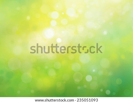 Spring bokeh green background. - stock photo