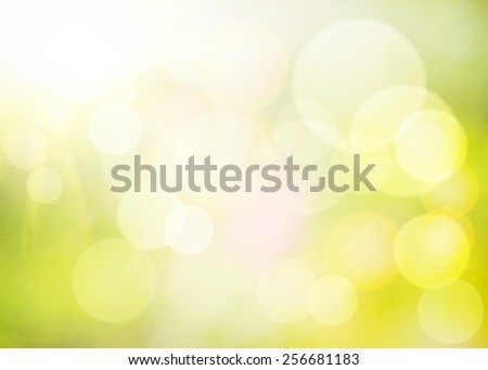 Spring green grass on a shiny bokeh. Illustration background. - stock photo