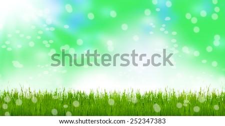 Spring meadow, easter meadow, Bokeh - stock photo