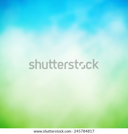 Spring nature bokeh  - stock photo