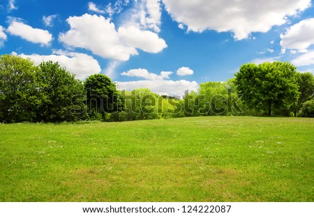 Spring nature landscape - stock photo