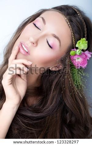spring portrait - stock photo