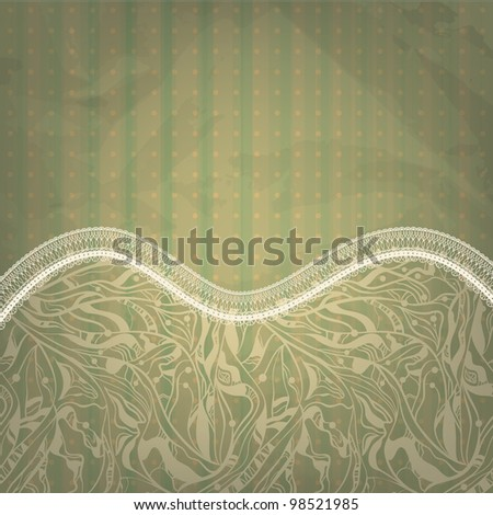 spring retro seamless floral pattern on abstract background with grungy blots, old paper texture, - stock photo